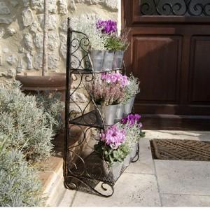 Blumentreppen | Schöne Pflanzentreppen Im Vergleich Blumentreppe Holz Metall Pflanzentreppe